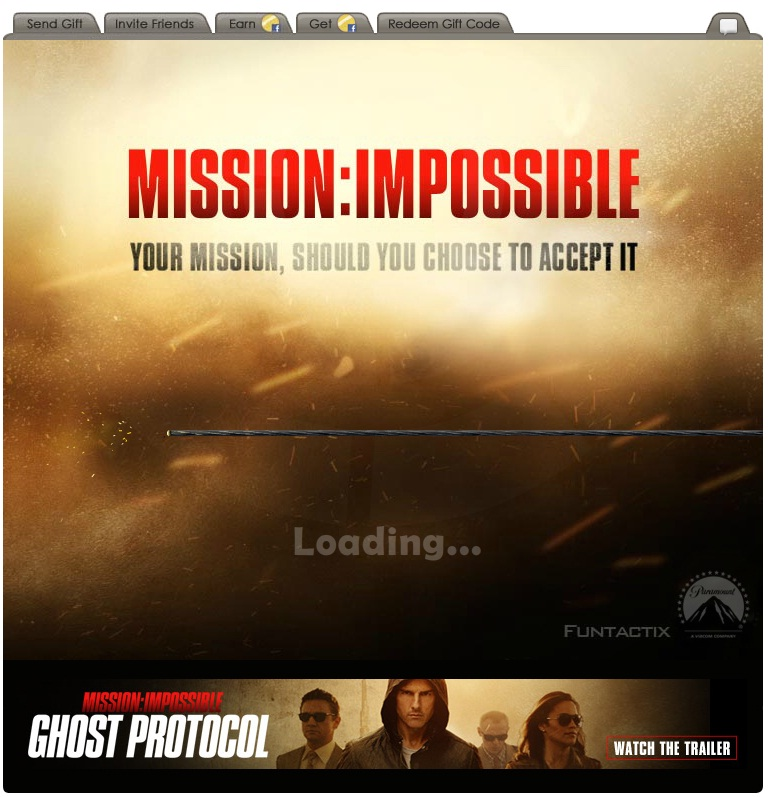 Mission Impossible Facebook Game